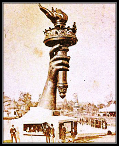 statue of liberty, arm w torch