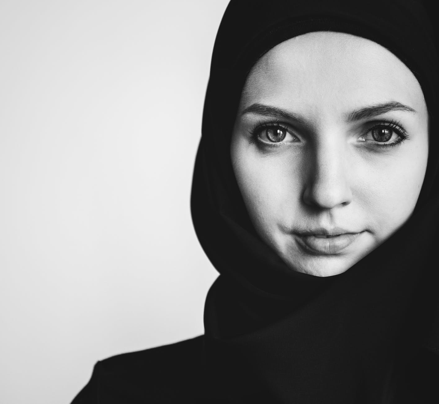 portrait photo of woman wearing hijab