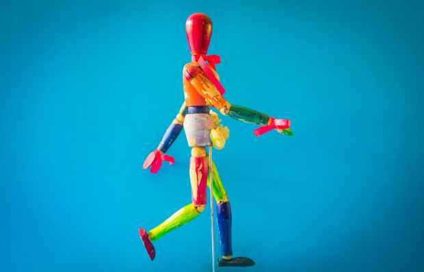 multicolored marionette doll