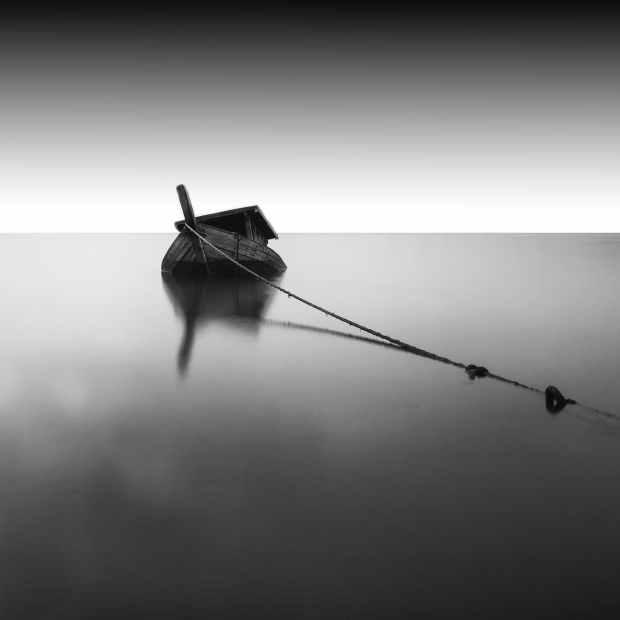 light sunset boat rope